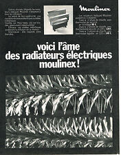 PUBLICITE  1969  MOULINEX   l'âme des radiateurs éléctriques