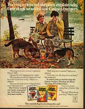 1976 Vintage ad for Gaines Burgers Dog Food/Elderly Ladies/Beagle (060213)