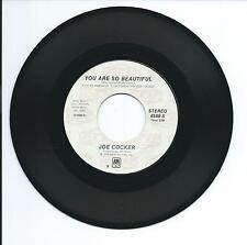 "1974 JOE COCKER ""YOU ARE SO BEAUTIFUL"" 45 rpm 7"""