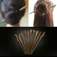 Wooden Carved Chopstick Women Hairpin Hair Stick Pin Handmade Crafts Vintage