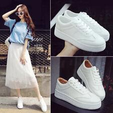 Lace White Shoes Women Breathable Platform Sneakers Fashion Korean Style Flats