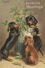 Dachshund Dog Puppies 1909 Carl Reichert - LARGE New Blank Christmas Note Cards