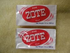 Zote Laundry Soap Bar - Pink 7oz Ship From USA Great For Catfish bait 25 Bars