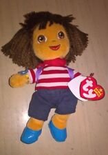 New Dora The Explorer in French Outfit Ty Beanie Plush Soft Toy Doll with Tags