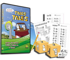 Times Tales DVD Learn Multiplication Tables Animated plus CD of Printables 2015