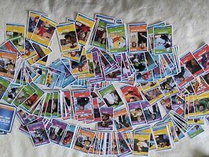 huge pile of SAINSBURYS HEROES DISNEY PIXAR STAR WARS CARDS