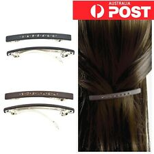 2pc/ Rhinestone Crystal Matte Ponytail Hair Clasp Clip Side Pin Barrette Hairpin