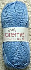 Wendy Supreme Luxury Cotton Silk DK Shade 1506 Ink 100g Ball