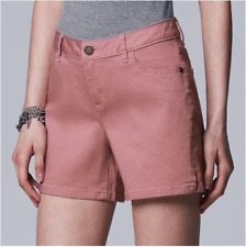 Simply Vera Vera Wang Jeans Shorts Stretchy denim Side Slit 4.5-in.inseam Midris
