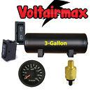 3 Gallon Air Tank 5Port Air Ride Suspension Compressor System Gauge Press Switch