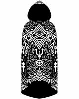 KILLSTAR - Thelema Ritual Hoodie Cloak Black Goth Occult Pullover RARE SOLD OUT