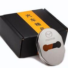 Stainless Steel Door Lock Striker Cover Door Striker Cover for Mazda cx-5 12-18