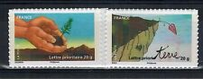 2011 - 2 TIMBRES- ADHESIF-FRANCE NEUF**FETE DU TIMBRE-TERRE - STAMP.Yt.526a/527a