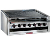 "Magikitchn APM-RMB-672 72"" Gas Countertop Charbroiler w/ Stainless Steel Radiant"