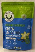 Organic Moringa Green Smoothie w/ Plant Protein Vanilla -Kuli Kuli- exp: 03/2021