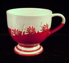 Starbucks Coffee Mug Cup 2007 Peppermint Ho Ho Ho Red Christmas Holiday 12 oz