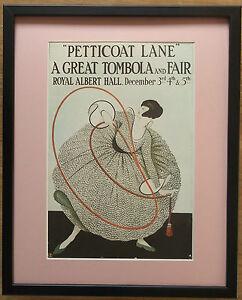 London poster, 20''x16'' frame, Petticoat Lane print, Royal Albert Hall wall art