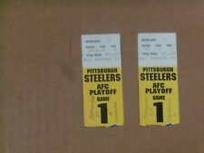 Pgh Steelers, 1994 Season, AFC Playoff Game 1 Tickets (2),  Clean