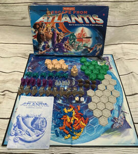 Waddingtons - ESCAPE FROM ATLANTIS - Board Game 100% Complete Nice Condtion