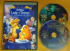 LADY AND THE TRAMP Platinum Disney DVD Authentic U.S. Region 1 ~ No scratches