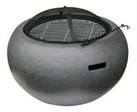Outdoor Fire Pit Bowl & BBQ Grill Round Patio Fire LARGE Outdoor Fire Pit 67.5cm