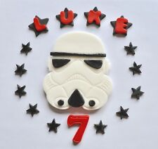 Storm Trooper Star Wars Cake Topper Edible Personalised Name unofficial