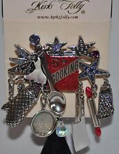 Pin/Converter In Silver Tone Last One Kirks Folly Five Star Cooking Fairy