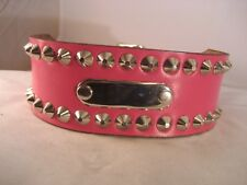 Leather Staffy ID Studded Dog Collar