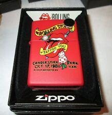 Rolling Stones Zippo Lighter Authentic 2016 Licensed Rock N Roll Mick Jagger