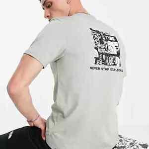 Genuine The North Face Crew Neck Mountain Distorted Logo T Shirt Medium