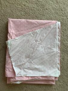 Pottery Barn Kids Pink Pin Dot Reversible Duvet Cover TWIN NEW