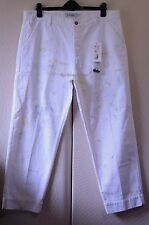 Yves Saint Laurent Rive Gauche $900 White Punk Splatter Jeans 52 | 36  Loose Fit