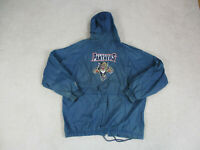 VINTAGE Florida Panthers Jacket Adult Large Blue Red NHL Hockey Mens 90s A00*