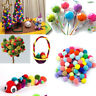 100Pcs Colorful Soft Furry Fluffy Pompoms Plush Ball Kids DIY Handmade Crafts