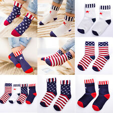 Hot American Flag Pattern Kids Boy Girl Soft Cotton Stars & Stripes Casual Socks
