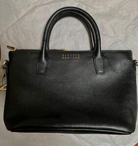"Barney New York black  leather bag, 11 x 7 x 4.5 """