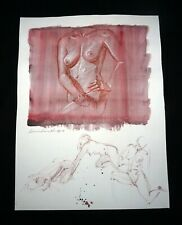 Hawaii Mixed Media Wash Painting Torso of a Female Nude Snowden Hodges (Sho)#135