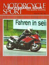 Motorcycle Sport Magazine - Honda XBR500 Kawasaki GPz1000RX Ninja 1000R ZXT00A