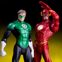 2pcs/set DC Hero Justice League The Flash Green Lantern Action Figure Toy Set