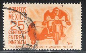 pa088a Mexico Arquite Used paper 2 Sc#E14 Mc#1034 Et#aa088a orange