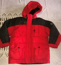 Rothschild Extreme Riders Boys 4-5 Red Black Snowboard Winter Hooded Ski Coat