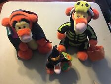 set of 3 Stuffed Halloween Tiggers