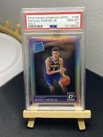 MICHAEL PORTER JR 2018 Donruss Optic Rated Rookie RC Holo PSA 10 Gem Mint SILVER