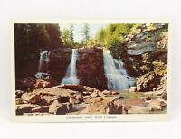 Blackwater Falls WV Vintage CurteichColor Postcard Unposted Beaitiful!