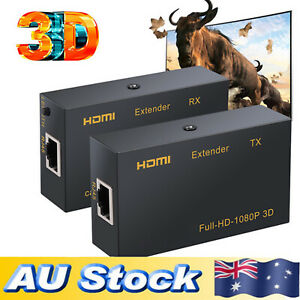 HDMI Extender RX TX Over single RJ45 cat5e Cat6 Ethernet Cable 1080P HDCP DTS