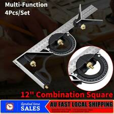 """Multifunctional 12"""" Combination Tri Square Set Angle Finder & Protractor Level"""