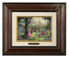 Thomas Kinkade Disney's Sleeping Beauty Framed Brushwork (Burl Frame)