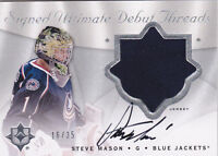 08-09 UD Ultimate Steve Mason /35 Auto Jersey Signed Debut Threads 2008