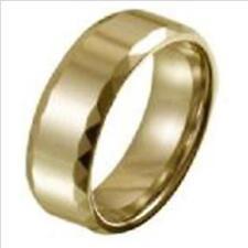 7mm - Axr047Z - Sz 10.0 Tungsten Brushed & Shiny Polished Ring Gold