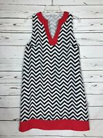 Mud Pie Boutique Chevron Red Sleeveless Party Summer Dress Women's Size S Small